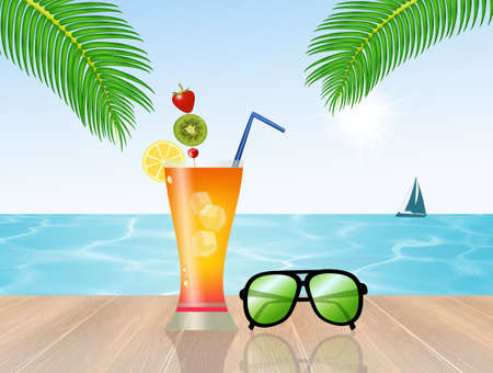 summertime: fresh cocktail on vacation
