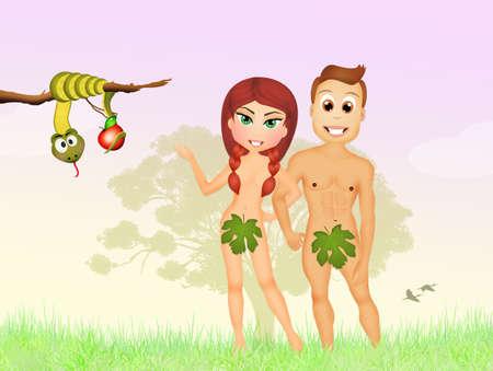 adam eve: Adam and Eve Stock Photo