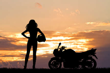 adrenaline: woman motorcyclist