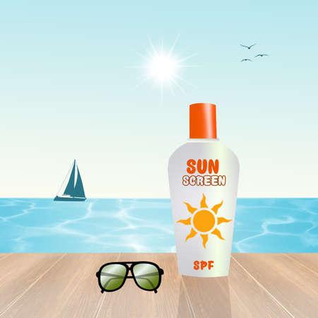sun screen: sun screen lotion