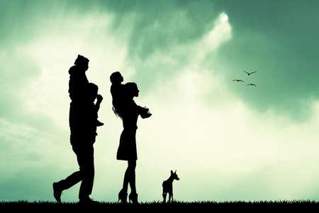 mom and son: joyful family on sunshine