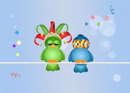 minstrel: birds celebrate carnival