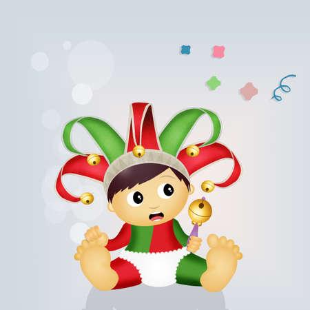 minstrel: cute baby joker