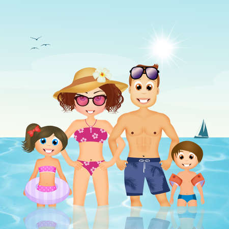 family on summer holidays