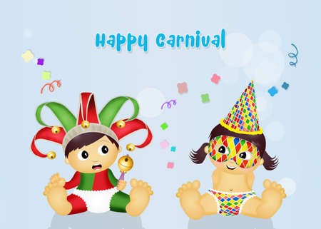 postcard: postcard for Carnival