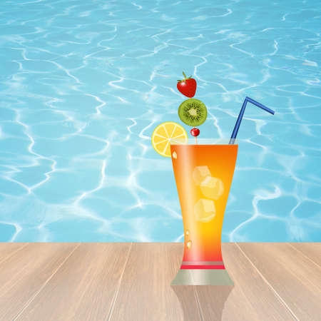 summertime: cocktail in summer