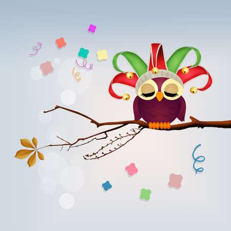 minstrel: owl celebrate carnival