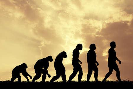인간 진화 스톡 콘텐츠