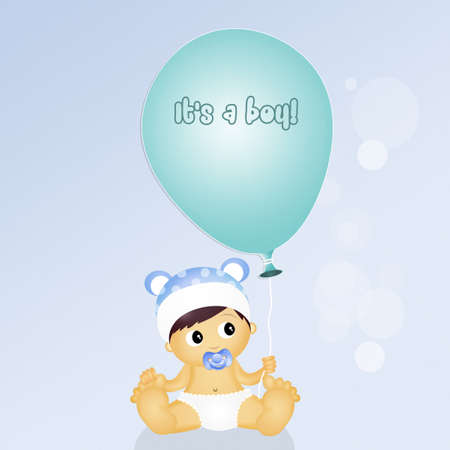 its a boy: its a boy! Stock Photo
