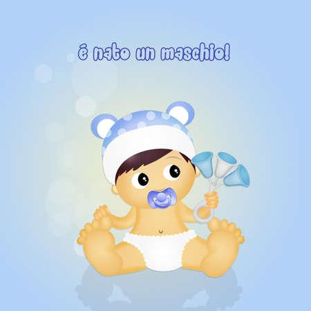 sonaja: masculina beb� con traqueteo