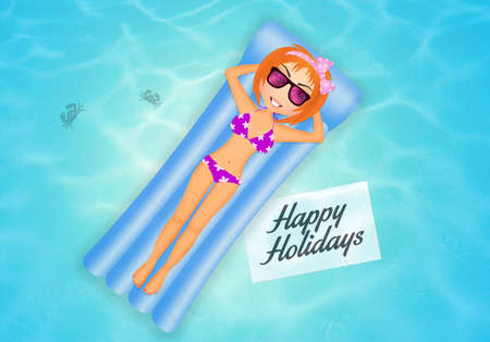 holidays: illustration of summer holidays