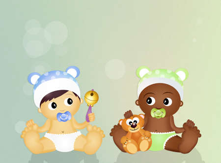 niños de diferentes razas: niños de diferentes razas