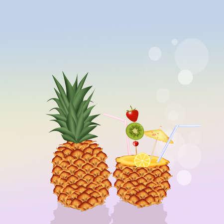 ananas: ananas cocktail fruit