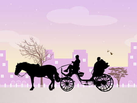 carefree: couple goes carriage