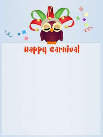 minstrel: postcard of Carnival Stock Photo