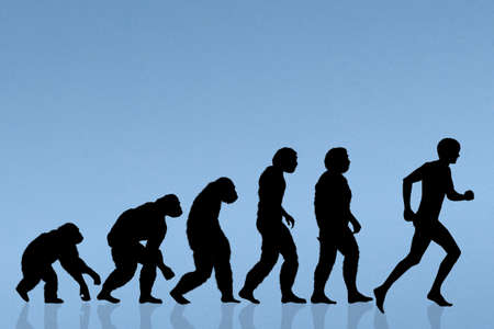 human evolution running Stock Photo - 59167596