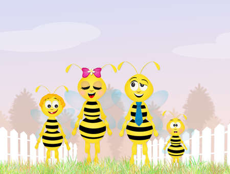 hum: bees family