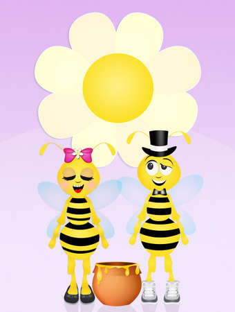 hum: bees couple in love