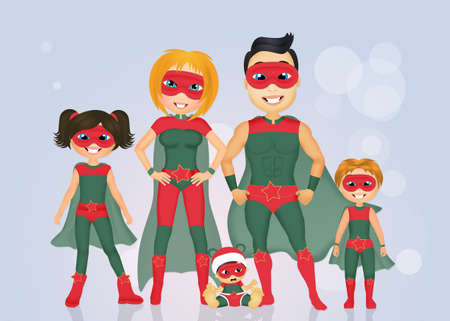 superheroes: family of superheroes