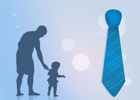 father: father with son and tie