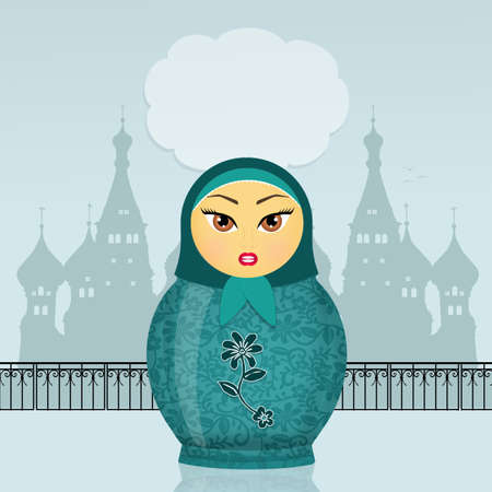 collectibles: Russian doll in the Mosquee