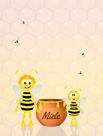hum: funny bees with honey