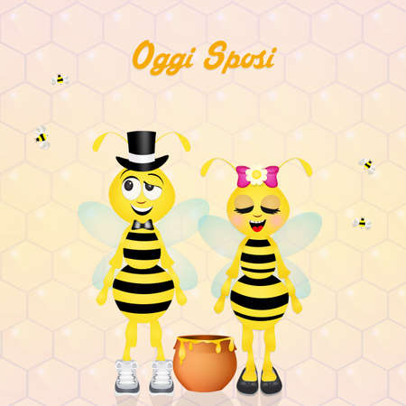 spouses: Wedding of bees