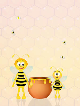 hum: bees with honey
