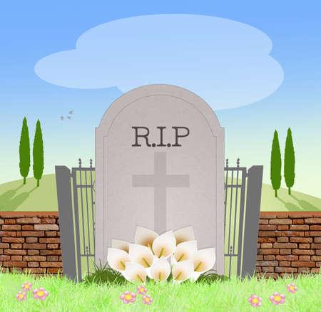headstone: headstone in the cemetery