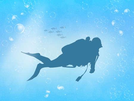 adrenaline: man diving silhouette