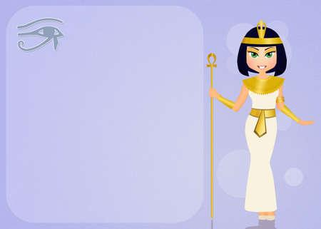 ojo de horus: Cleopatra y Horus ojo