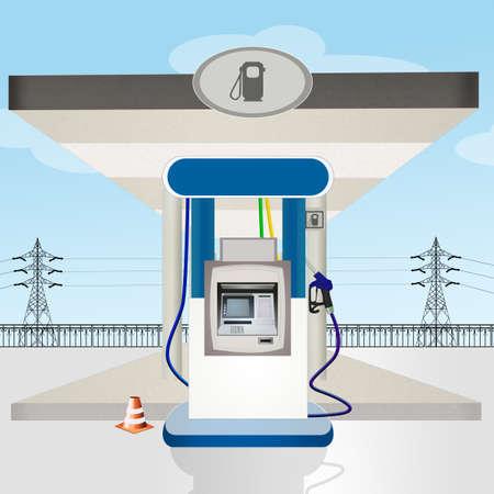 gas station service Stock Photo