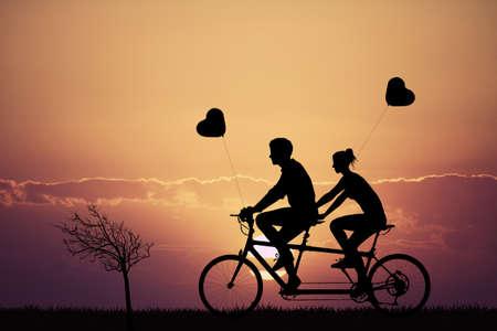 Tandem: tandem love at sunset