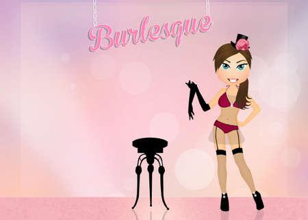 sexy girl dance: Burlesque show