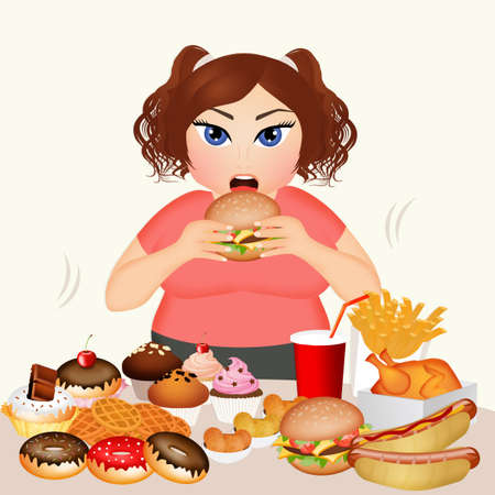 overweight: overweight woman Stock Photo