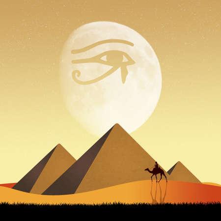 ojo de horus: Pirámides y Horus ojo