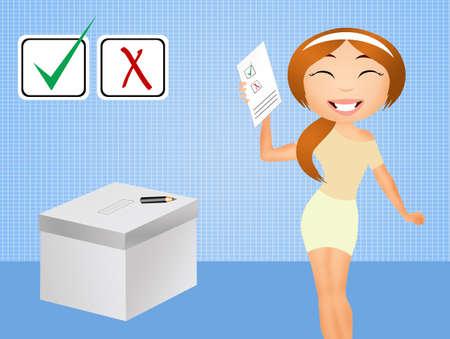 voting: Election voting Stock Photo