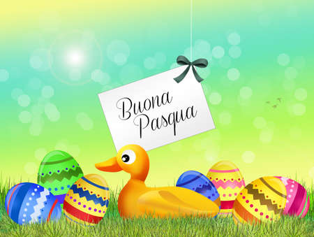 outdoor event: Happy Easter Stock Photo