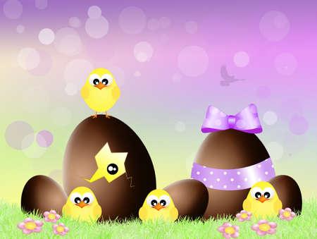 religious celebration: Easter chocolate eggs