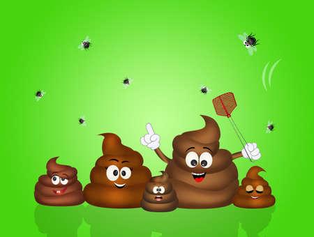 crap: funny illustration of poop