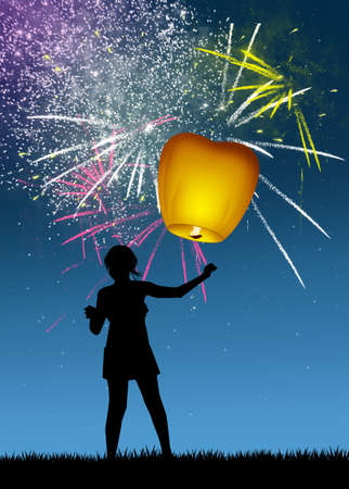 sky lantern for the new Year