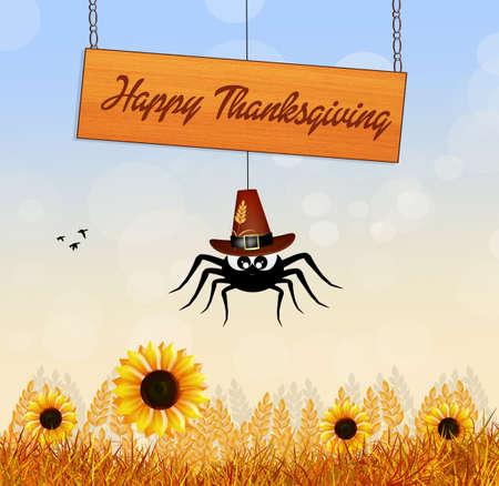 corn flower: Happy Thanksgiving Stock Photo