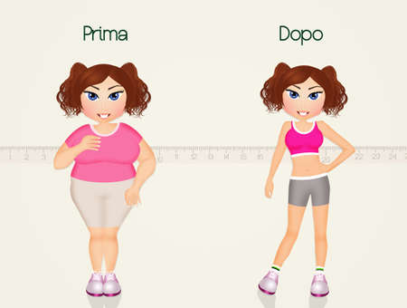 before: girl before and after diet