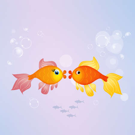 fishes: red fishes Stock Photo