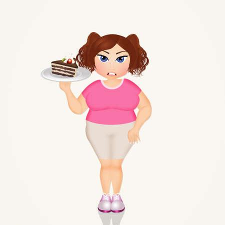 여자와 과체중 여자 스톡 콘텐츠
