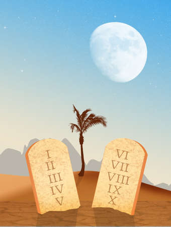 ten commandments: tables of the ten commandments