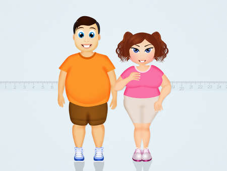 overweight: overweight couple