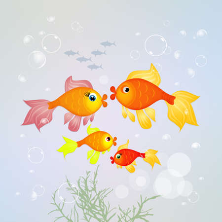 fishes: red fishes family