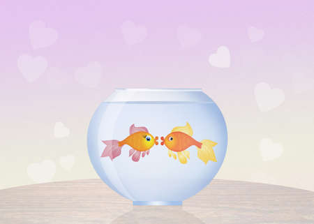 goldfish in bowl Stock Photo