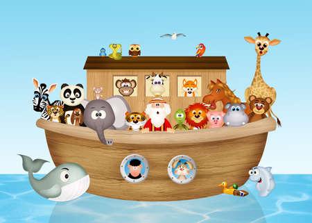 illustratie van de ark van Noach